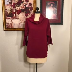 New with tags Chicos mulberry cowl neck blouse